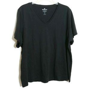 XXL Bombas Pima Cotton V-Neck T-Shirt Black